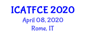 International Conference on Applications of Textile Fibers in Civil Engineering (ICATFCE) April 08, 2020 - Rome, Italy