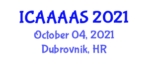International Conference on Applied Aerodynamics, Aerostructures and Aircraft Systems (ICAAAAS) October 04, 2021 - Dubrovnik, Croatia