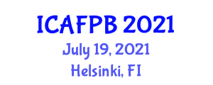 International Conference on Applied Forest Biology and Biotechnology (ICAFPB) July 19, 2021 - Helsinki, Finland