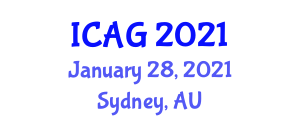 International Conference on Applied Geography (ICAG) January 28, 2021 - Sydney, Australia
