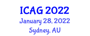 International Conference on Applied Geography (ICAG) January 28, 2022 - Sydney, Australia