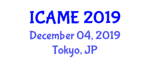 International Conference on Applied Mineralogy and Environment (ICAME) December 04, 2019 - Tokyo, Japan