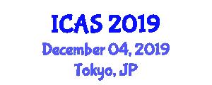 International Conference on Archaeological Studies (ICAS) December 04, 2019 - Tokyo, Japan