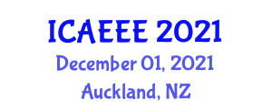 International Conference on Architectural Environment and Environmental Engineering (ICAEEE) December 01, 2021 - Auckland, New Zealand