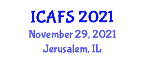 International Conference on Architecture and Futuristic Structures (ICAFS) November 29, 2021 - Jerusalem, Israel
