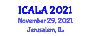 International Conference on Architecture and Landscape Architecture (ICALA) November 29, 2021 - Jerusalem, Israel