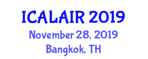 International Conference on Artificial Life, Artificial Intelligence and Robotics (ICALAIR) November 28, 2019 - Bangkok, Thailand