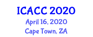 International Conference on Atmospheric Chemistry and Clouds (ICACC) April 16, 2020 - Cape Town, South Africa