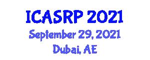 International Conference on Atomic Spectroscopy and Reactor Physics (ICASRP) September 29, 2021 - Dubai, United Arab Emirates