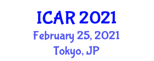 International Conference on Autism Research (ICAR) February 25, 2021 - Tokyo, Japan