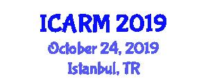 International Conference on Automation, Robotics and Mechatronics (ICARM) October 24, 2019 - Istanbul, Turkey