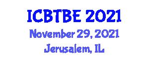 International Conference on Biocatalysis Technologies and Bioelectrical Engineering (ICBTBE) November 29, 2021 - Jerusalem, Israel