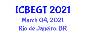 International Conference on Biomass Energy and Gasification Technologies (ICBEGT) March 04, 2021 - Rio de Janeiro, Brazil