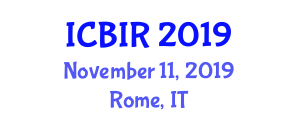 International Conference on Biomedical Instrumentation and Robotics (ICBIR) November 11, 2019 - Rome, Italy
