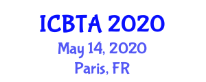 International Conference on Biomedical Therapy and Autism (ICBTA) May 14, 2020 - Paris, France