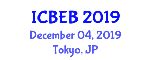 International Conference on Bionomics, Ecology and Behavior (ICBEB) December 04, 2019 - Tokyo, Japan