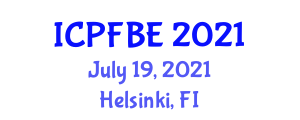 International Conference on Bioprocessing, Food and Beverage Engineering (ICPFBE) July 19, 2021 - Helsinki, Finland