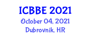 International Conference on Bioscience and Biological Engineering (ICBBE) October 04, 2021 - Dubrovnik, Croatia