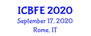 International Conference on Biotechnology and Food Engineering (ICBFE) September 17, 2020 - Rome, Italy