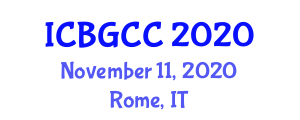 International Conference on Botanical Geography and Climatic Classification (ICBGCC) November 11, 2020 - Rome, Italy
