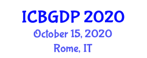 International Conference on Botanical Geography and Distribution Patterns (ICBGDP) October 15, 2020 - Rome, Italy