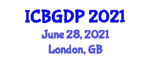 International Conference on Botanical Geography and Distribution Patterns (ICBGDP) June 28, 2021 - London, United Kingdom