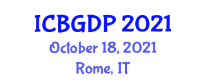 International Conference on Botanical Geography and Distribution Patterns (ICBGDP) October 18, 2021 - Rome, Italy