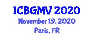 International Conference on Botanical Geography and Marine Vegetation (ICBGMV) November 19, 2020 - Paris, France
