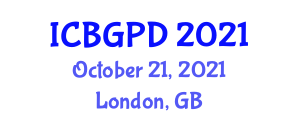 International Conference on Botanical Geography and Plant Distribution (ICBGPD) October 21, 2021 - London, United Kingdom