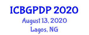 International Conference on Botanical Geography and Plant Distribution Patterns (ICBGPDP) August 13, 2020 - Lagos, Nigeria