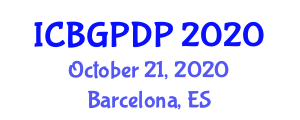 International Conference on Botanical Geography and Plant Distribution Patterns (ICBGPDP) October 21, 2020 - Barcelona, Spain
