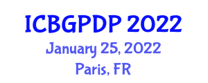 International Conference on Botanical Geography and Plant Distribution Patterns (ICBGPDP) January 25, 2022 - Paris, France