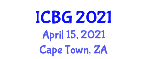International Conference on Botanical Geography (ICBG) April 15, 2021 - Cape Town, South Africa