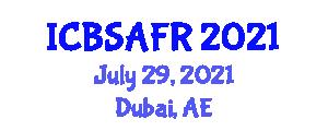 International Conference on Breeding Strategies and Animal Feed Resources (ICBSAFR) July 29, 2021 - Dubai, United Arab Emirates