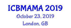 International Conference on Building Materials and Advanced Material Analysis (ICBMAMA) October 23, 2019 - London, United Kingdom