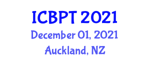 International Conference on Building Planning and Technology (ICBPT) December 01, 2021 - Auckland, New Zealand