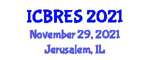 International Conference on Business in Renewable Energy Sources (ICBRES) November 29, 2021 - Jerusalem, Israel