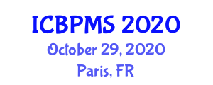International Conference on Business Process Management Systems (ICBPMS) October 29, 2020 - Paris, France