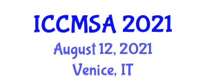 International Conference on Cancer Management for Small Animals (ICCMSA) August 12, 2021 - Venice, Italy