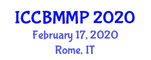 International Conference on Carbon Based Materials and Mineral Processing (ICCBMMP) February 17, 2020 - Rome, Italy