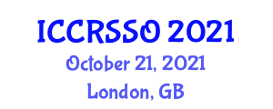 International Conference on Cellular Robotic Systems and Structural Organization (ICCRSSO) October 21, 2021 - London, United Kingdom