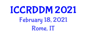 International Conference on Cellular Robotics and Distributed Decision Making (ICCRDDM) February 18, 2021 - Rome, Italy