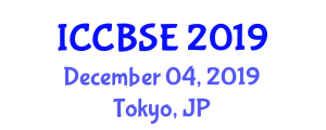 International Conference on Chemical and Biological Systems Engineering (ICCBSE) December 04, 2019 - Tokyo, Japan