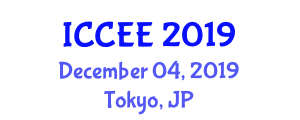 International Conference on Chemical and Environmental Engineering (ICCEE) December 04, 2019 - Tokyo, Japan