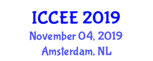 International Conference on Chemical and Environmental Engineering (ICCEE) November 04, 2019 - Amsterdam, Netherlands