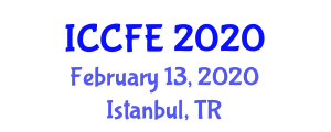 International Conference on Chemical and Food Engineering (ICCFE) February 13, 2020 - Istanbul, Turkey