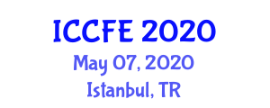 International Conference on Chemical and Food Engineering (ICCFE) May 07, 2020 - Istanbul, Turkey