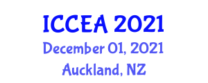 International Conference on Chemical Engineering and Applications (ICCEA) December 01, 2021 - Auckland, New Zealand