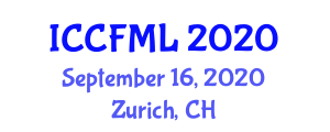 International Conference on Chemistry of Fiber Metal Laminates (ICCFML) September 16, 2020 - Zurich, Switzerland