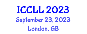 International Conference on Chinese Language and Literature (ICCLL) September 23, 2023 - London, United Kingdom